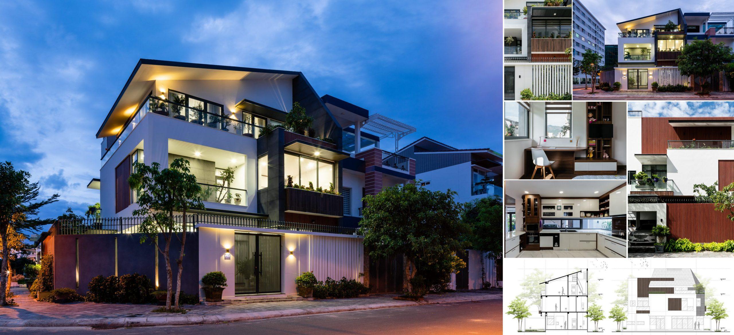 Thiết kế biệt thự sân vườn hiện đại Nha Trang, Cam Ranh, Khánh Hòa - Kientrucpp